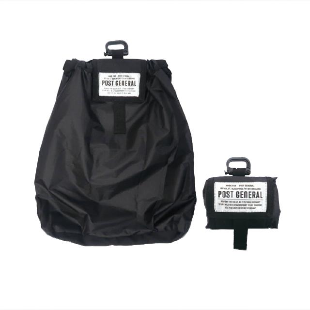 パッカブル ドローストリングバッグ (3色) POST GENERAL / ポストジェネラル  WPM fd