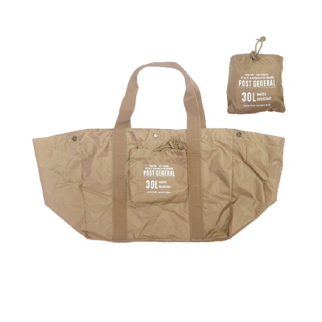 パッカブルショッピングバスケットバッグ (4色) POST GENERAL / ポストジェネラル