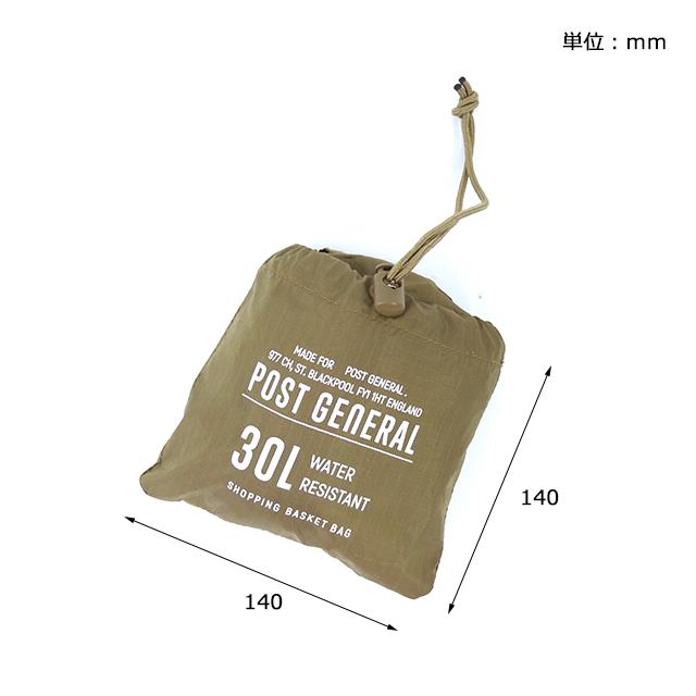 パッカブルショッピングバスケットバッグ (4色) POST GENERAL / ポストジェネラル  WPM fd