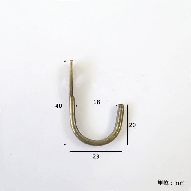 アイアン フラットフック Sサイズ (ブラック / ゴールド) DIY