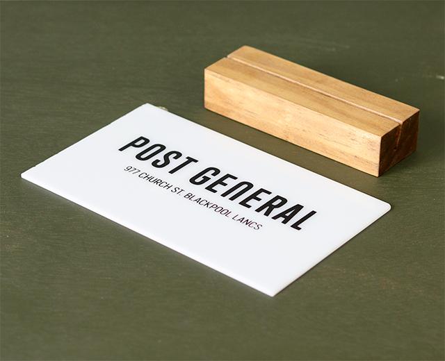 アクリルスタンドポップ POST GENERAL / ポストジェネラル パネル ブランド 看板