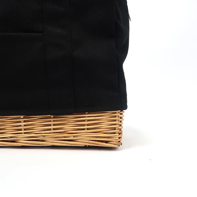 柳キャンバス ランチバッグ Lサイズ (4色) CARMELINA / カルメリーナ WPL