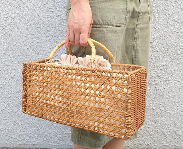 八ツ目編みカゴバッグ サークルロング CARMELINA / カルメリーナ