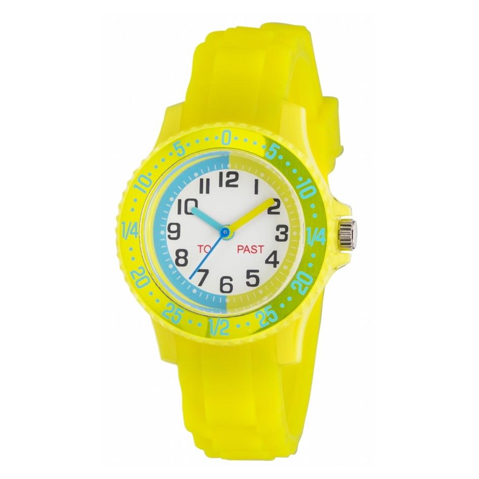 子ども時計 時間の読み方を学べる時計 キッズウオッチ アナログ 回転ベゼル【NB-AK277】