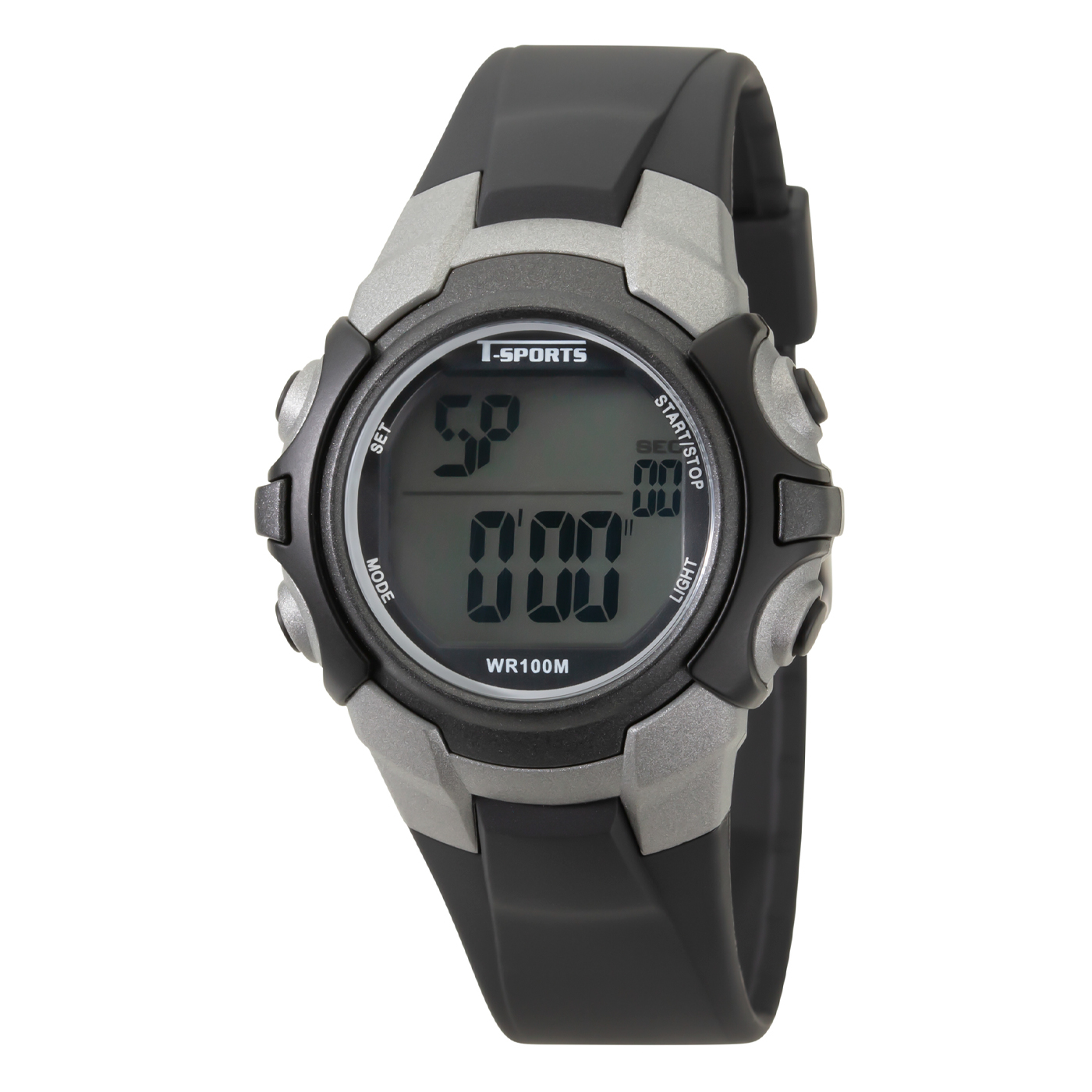 T-SPORTS ティースポーツ デジタルウオッチ 10年電池 10気圧防水 腕時計【TS-D228】