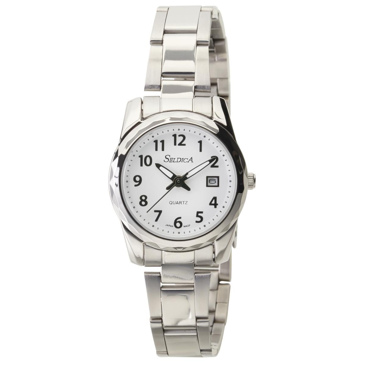 日本製腕時計 レディースステンレスベルト SELDICA アナログ【SD-AL048】