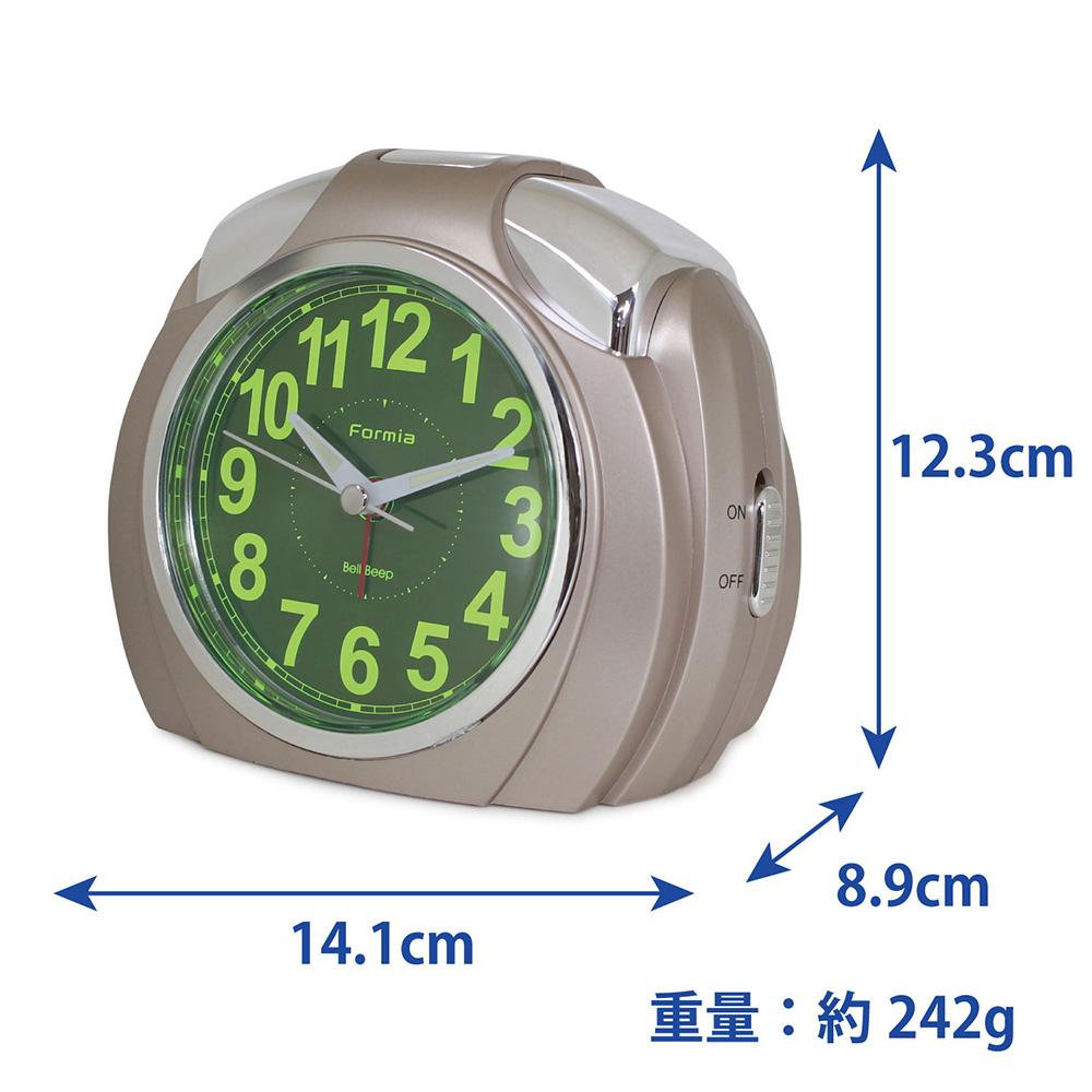 目覚まし時計 集光文字盤 スヌーズ機能【L-HT202CG】