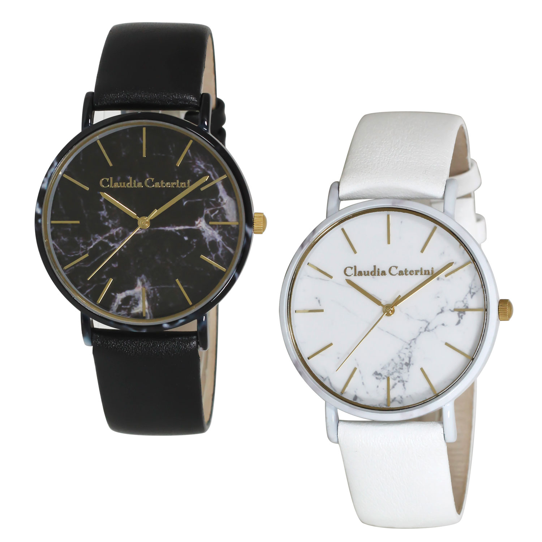 Claudia Caterini クラウディアカテリーニ マーブルデザインウオッチ アナログウオッチ 腕時計 本革レディース【CC-A121】