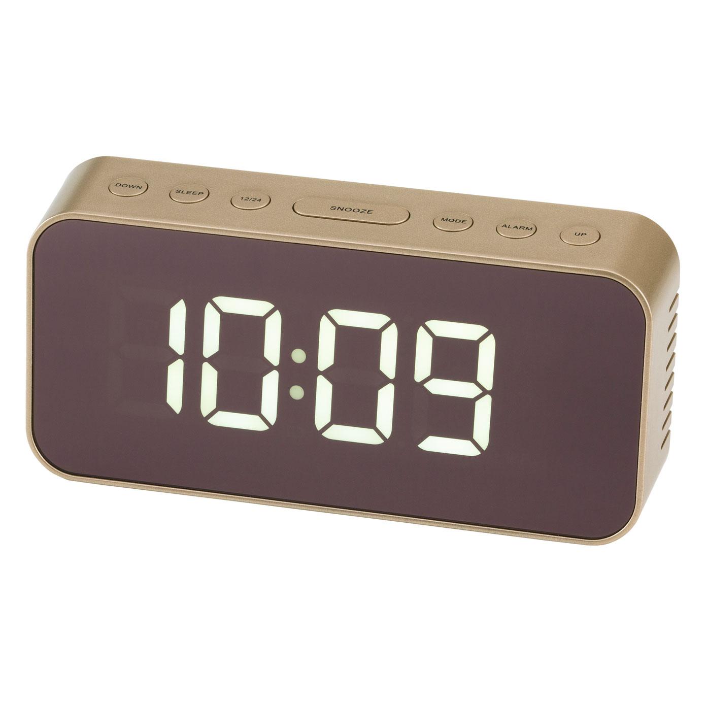 ミラークロック 置き時計 インテリア 目覚まし PLUSDECO プラスデコ【IAC-5658】