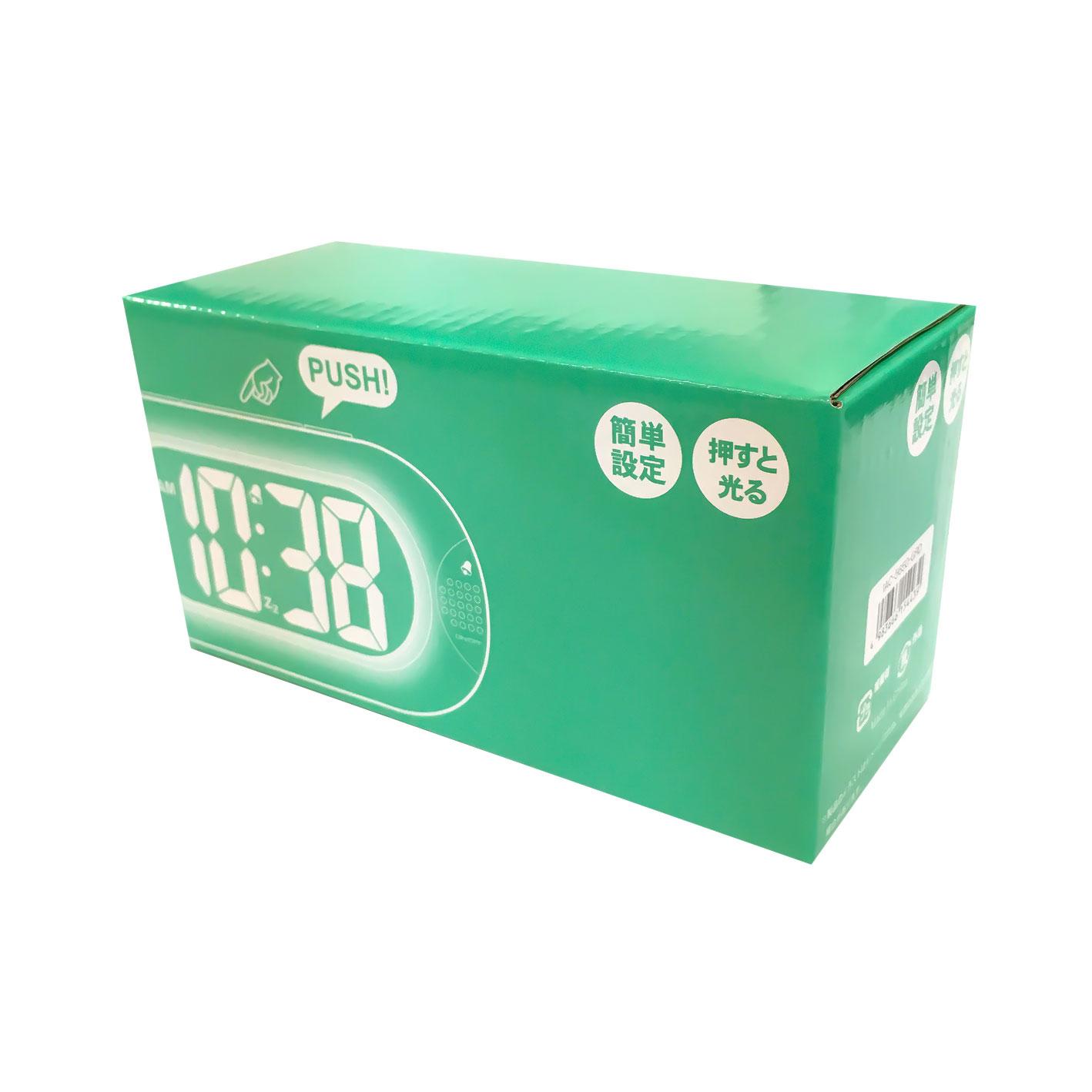 インテリアクロック 目覚まし時計 デジタル 液晶 ライト 【IAC-5650】