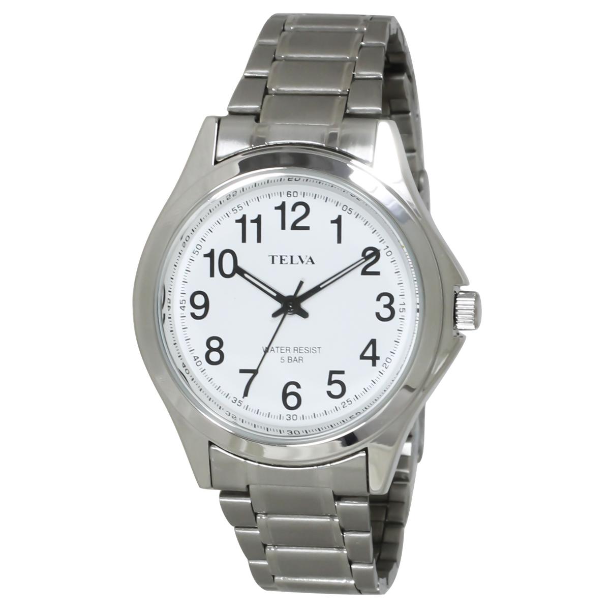TELVA テルバ アナログウオッチ メンズ 10年電池 腕時計【TE-AM035】