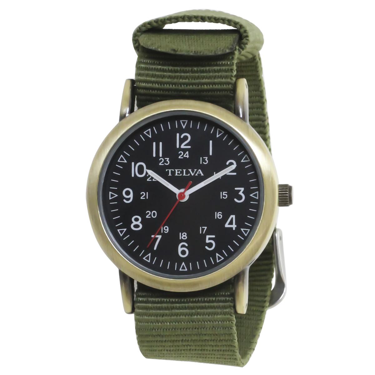 TELVA テルバ アナログウオッチ NATOバンド メンズ レディース 腕時計【TE-AM043】