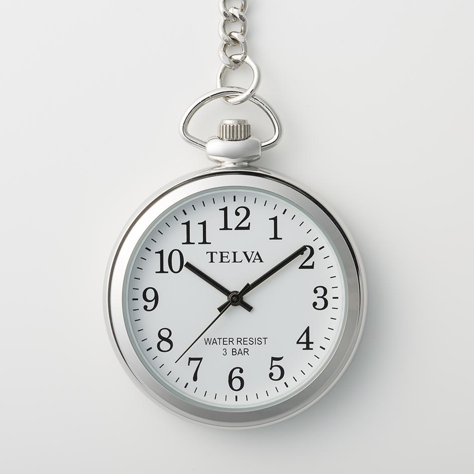 懐中時計 クオーツ ポケットウオッチ TELVA テルバ【TE-AM153】