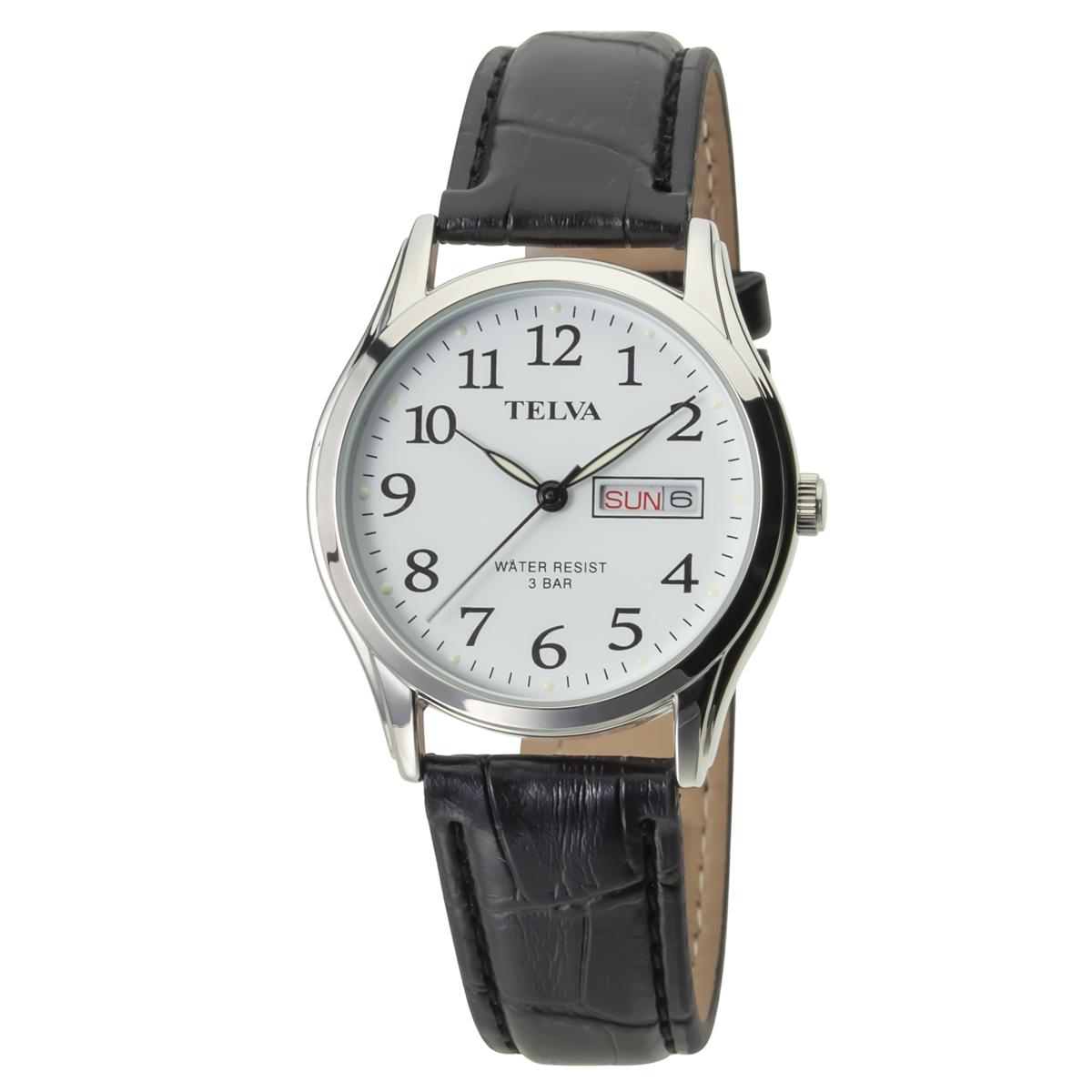 TELVA テルバ アナログウオッチ メンズ 曜日 日付 腕時計【TE-AM176】