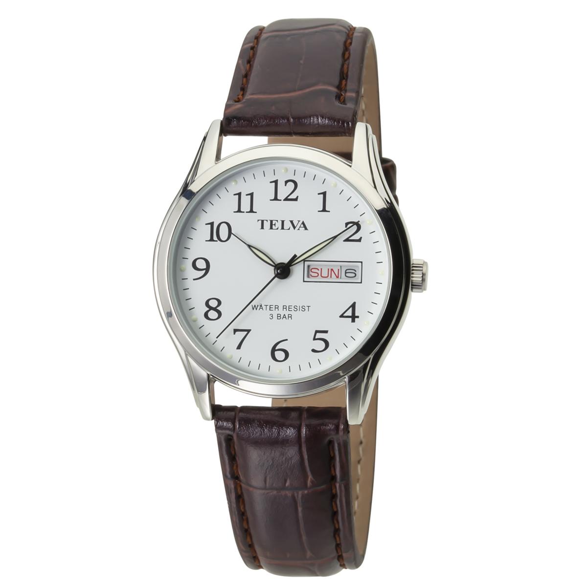 TELVA テルバ アナログウオッチ メンズ 曜日 日付 腕時計【TE-AM177】