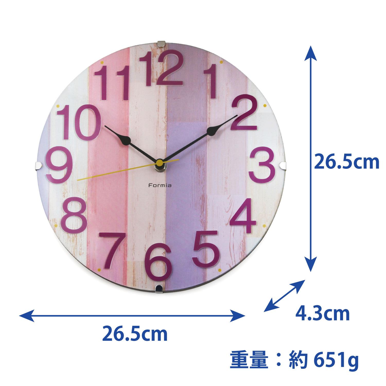インテリア掛時計 ウッド調 木目【HIC-001】