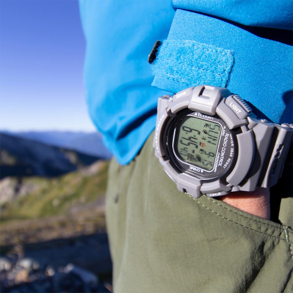 TELVA テルバ デジタルウオッチ 電波時計 メンズ 腕時計【TE-D189】