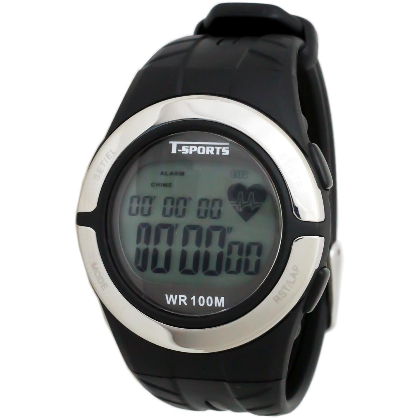 T-SPORTS ティースポーツ デジタルウオッチ 心拍計測 腕時計 メンズ レディース【TS-D028】