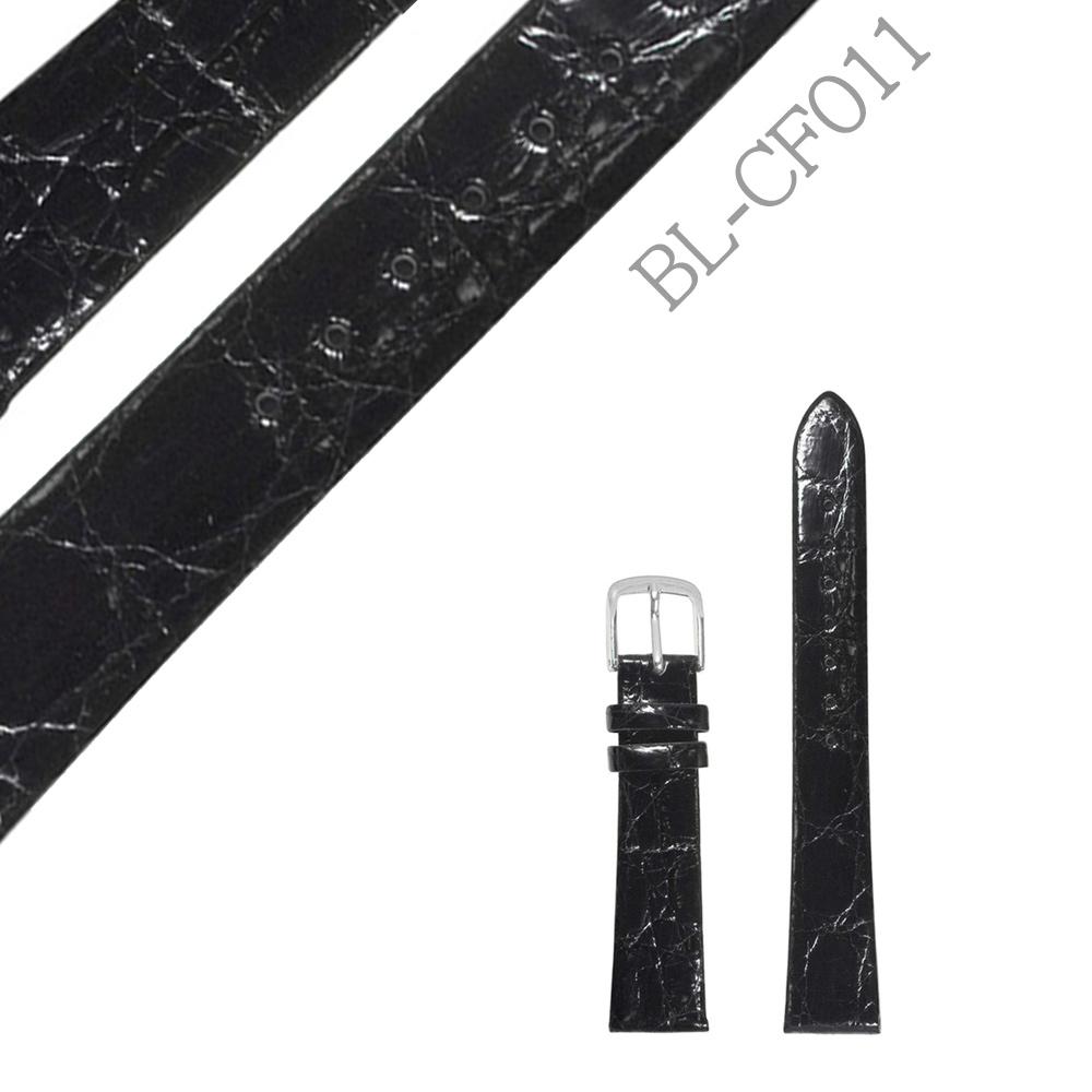 時計バンド カーフ レザー 牛革 ブラック 黒 替えバンド【BL-CF011】