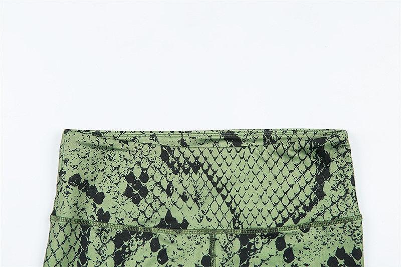 セットアップ レディース ダンス衣装 ジム ヨガ フィットネス 2点セット 韓国 チューブトップ かっこいい おしゃれ かわいい セクシー 蛇柄 パイソン柄