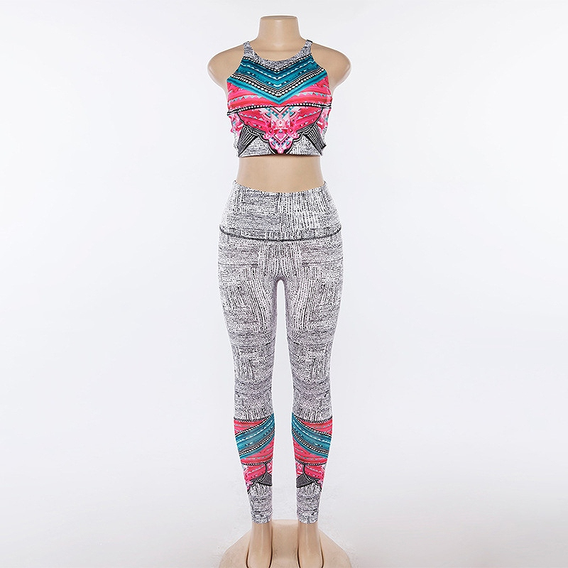セットアップ レディース ダンス 衣装 ジム ヨガ フィットネス 2点セット 上下セット かっこいい おしゃれ かわいい セクシー マルチカラー