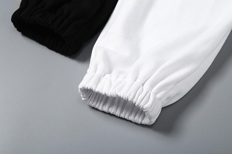 スウェットパンツ レディース ダンス 衣装 ジム ヨガ フィットネス アシンメトリー バイカラー かっこいい おしゃれ かわいい セクシー ブラック ホワイト