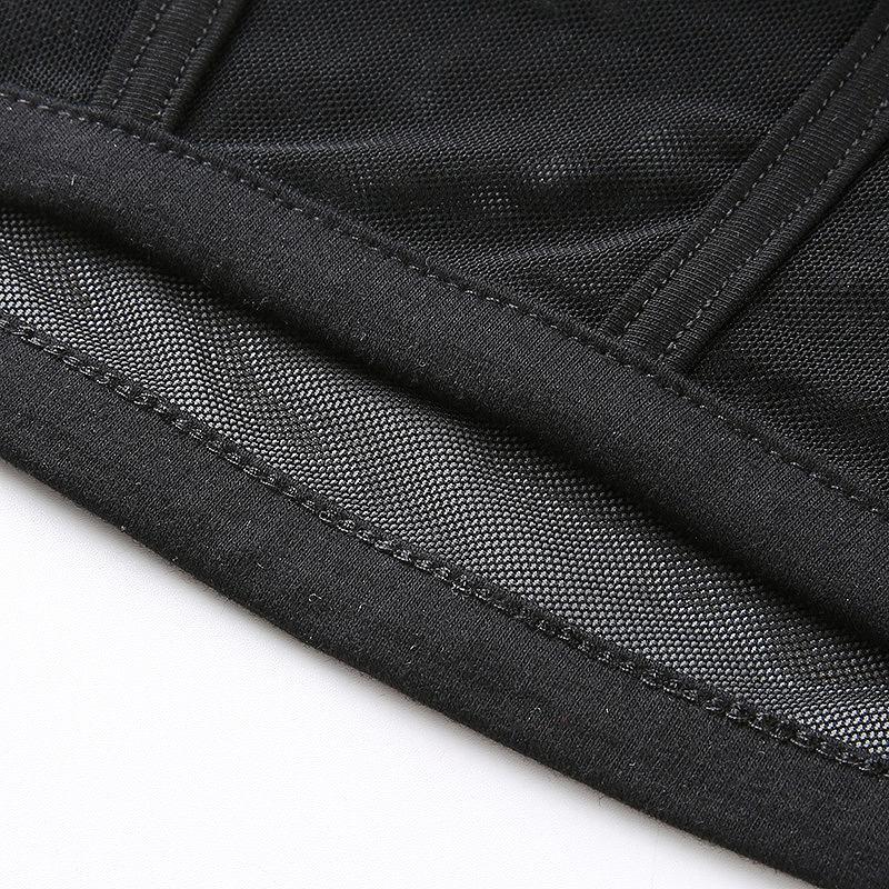 カットソー レース ショート丈 トップス レディース へそ出し 半袖 レース ダンス 衣装 韓国 ファッション シースルー かっこいい おしゃれ かわいい ブラック