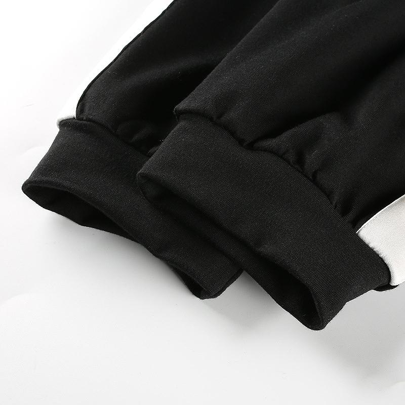 スウェットパンツ レースアップパンツ ラインパンツ ボトムス レディース レースアップ ライン スウェット 編み上げ 韓国 ダンス 衣装 ヨガ ジム シンプル おしゃれ 可愛い かわいい カワイイ かっこいい 黒 白 ブラック ホワイト