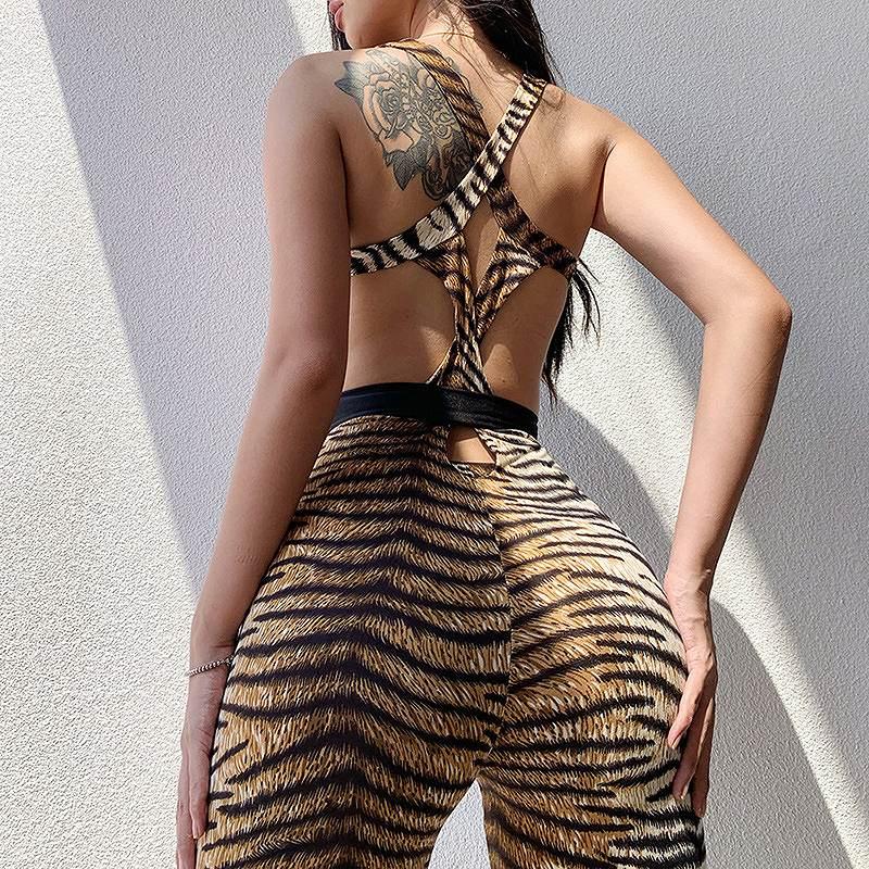 サロペット レディース 豹柄 オーバーオール ヒョウ柄 ロンパース ダンス 衣装 韓国 ファッション セクシー コスプレ かっこいい おしゃれ かわいい