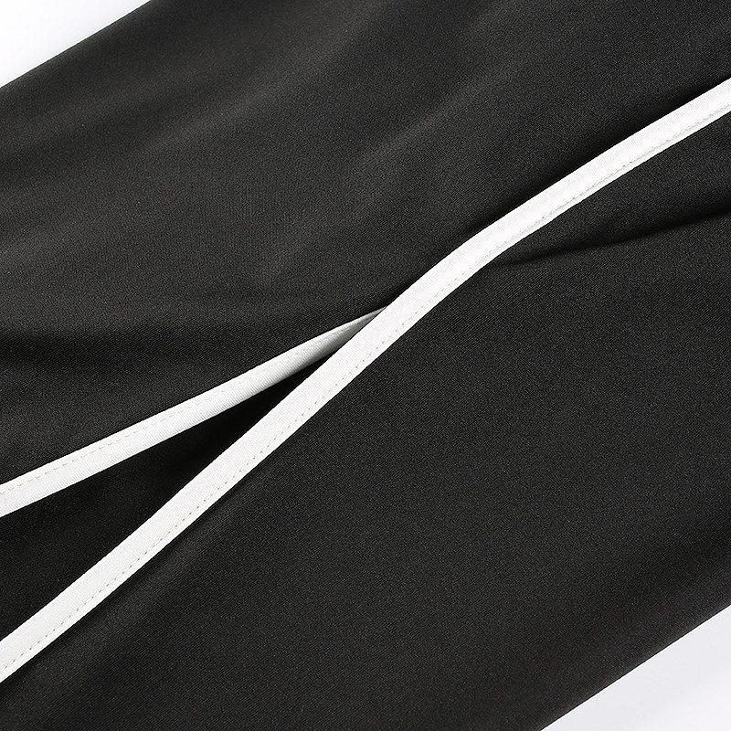 スウェットパンツ サイドスリットダンスパンツ 深め スリット パンツ ラインパンツ ダンスパンツ ヨガ パンツ ボトムス レディース ファッション 韓国 ファッション 韓国服 原宿 系 女性 ウエストゴム ダンス サイドスリット おしゃれ かっこいい セクシー 黒 ブラック