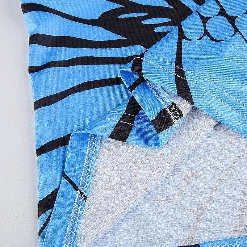 タンクトップ インナー レディース トップス バタフライ キャミソール ブルー 蝶々 ダンス 衣装 ショート丈 へそ出し レディース おしゃれ シンプル かっこいい ヨガ ジム 韓国 ファッション ヒップホップ hiphop かわいい セクシー 女性