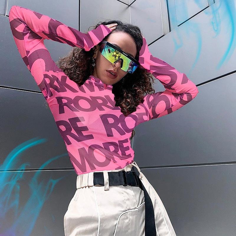 レース ダンス衣装 カットソー レディース トップス ショート丈 ヒップホップ hiphop へそ出し 長袖 韓国ファッション かっこいい おしゃれ かわいい