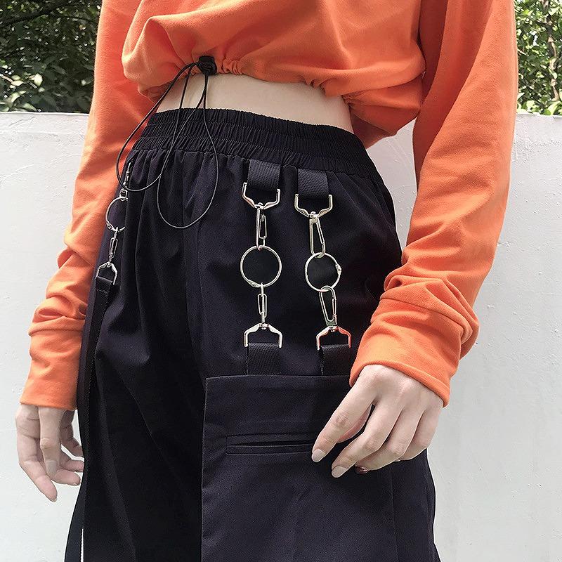 カーゴパンツ レディース ダンス衣装 ワイドパンツ ミリタリーパンツ ブラック レッド ボトムス 韓国ファッション おしゃれ かわいい かっこいい