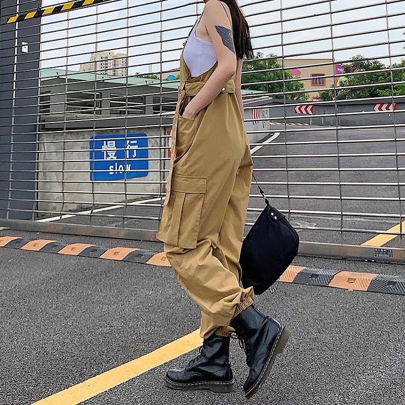 サロペット レディース オールインワン コンビネゾン ミリタリー カーゴパンツ ダンス衣装 韓国 ファッション かっこいい おしゃれ かわいい