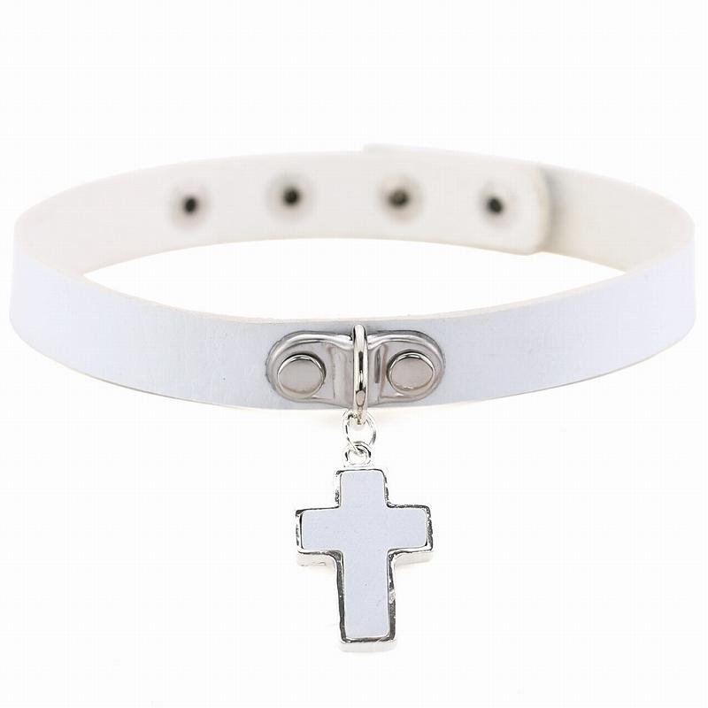 チョーカー 十字架 レディース ネックレス 韓国ジュエリー アクセサリー ダンス ペンダント クロス 韓国アクセサリー 十字架ネックレス おしゃれ シンプル