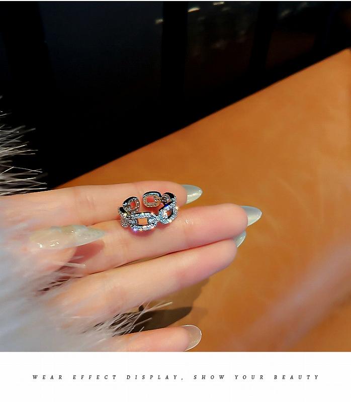 指輪 ビジュー キラキラ ラメ シルバーリング レディース 韓国 ファッション アクセサリー ジュエリー 女性 おしゃれ かわいい かっこいい 韓国ジュエリー 韓国アクセ