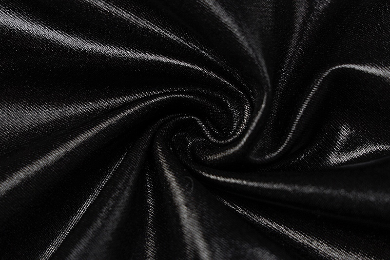 ワンピース ブラック レディース 韓国ファッション 薄手 スリム フリル フェイクレザー タイト かっこいい おしゃれ かわいい セクシー 女性 黒
