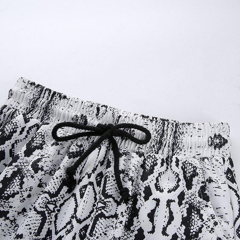 スウェットパンツ レディース パイソン柄 ワイドパンツ ダンス 衣装 韓国 ファッション ヘビ柄 セクシー かっこいい おしゃれ