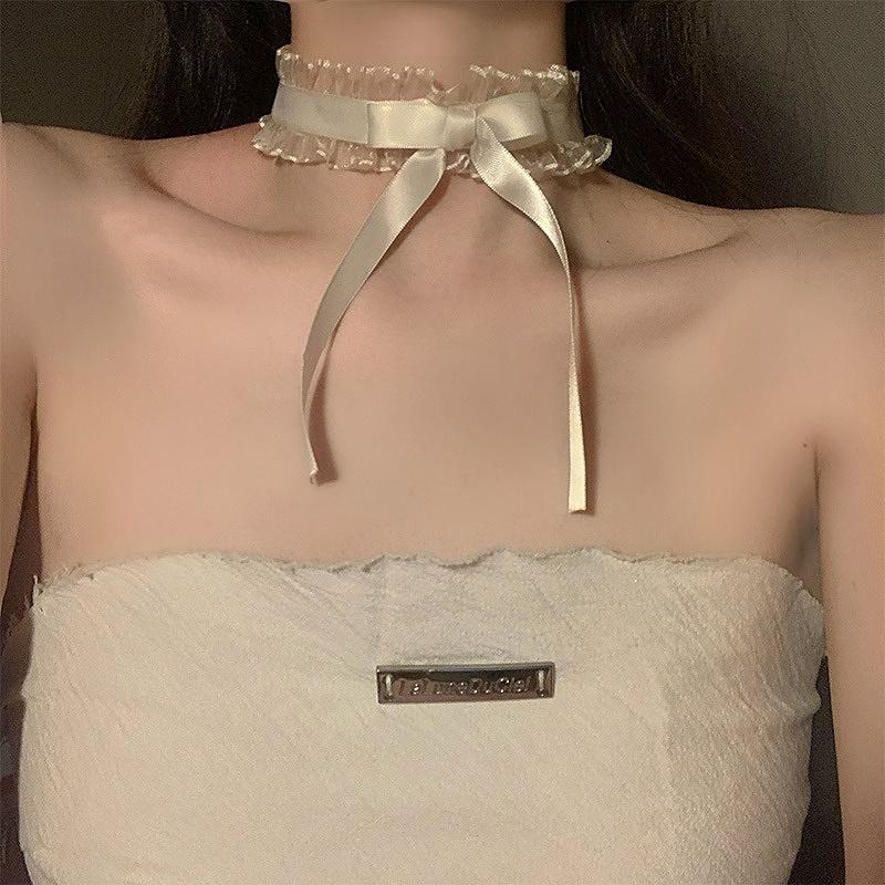 チョーカー レディース リボン 韓国 ファッション ストリート ロック パンク ペンダント アクセサリー 女性 韓国ジュエリー おしゃれ かわいい かっこいい