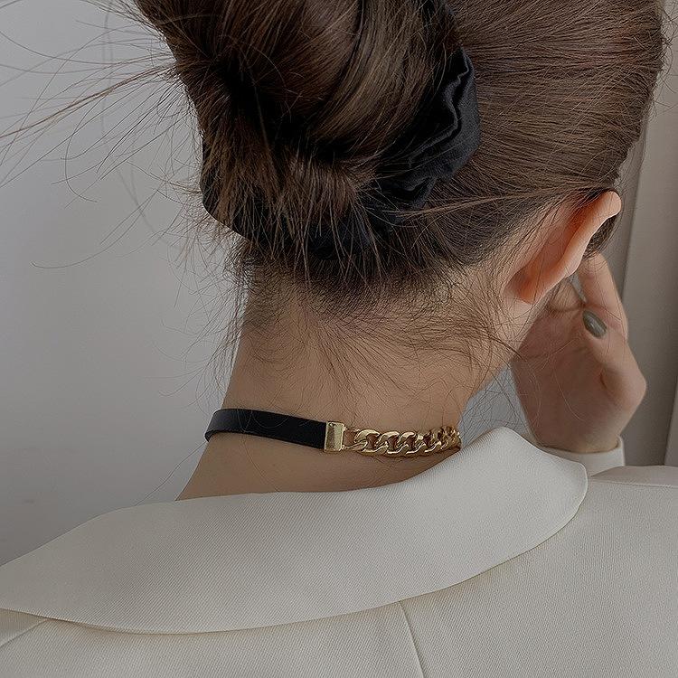 アシンメトリーネックレス ベルト チェーンネックレス レディース 韓国 ファッション バングル ブレスレット ストリート ロック パンク ペンダント 上品 シンプル アクセサリー 女性 韓国ジュエリー おしゃれ かわいい かっこいい