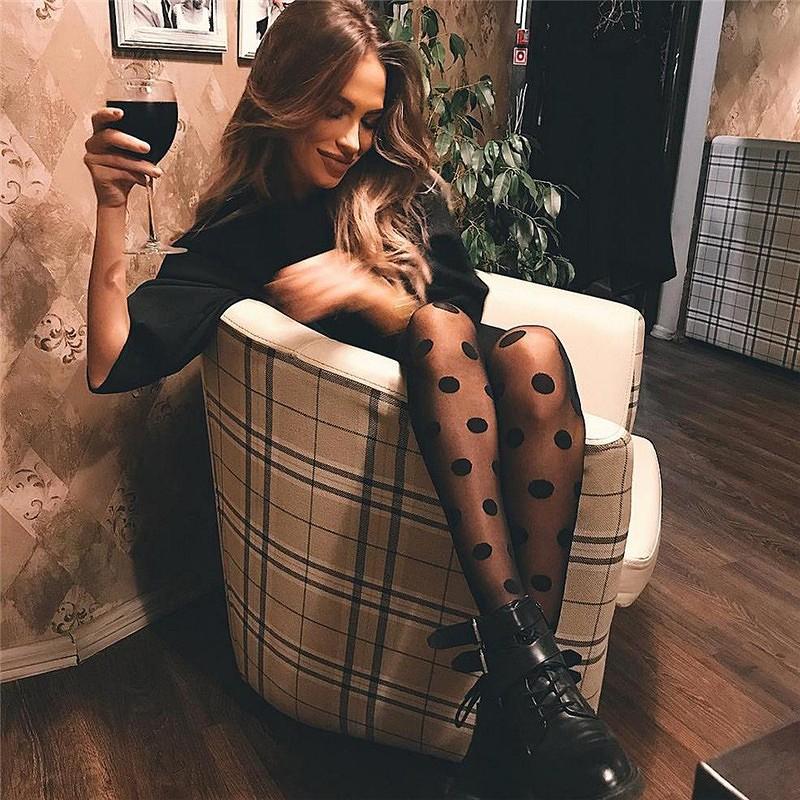 ストッキング レディース パンスト 水玉 ドット柄 タイツ ダンス 衣装 韓国 ファッション セクシー 女性 コスプレ かっこいい おしゃれ かわいい