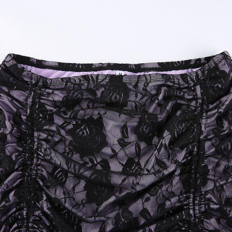 総レース ミニスカート レディース ショート丈 ミニ丈 ボトムス メッシュ 韓国ファッション シースルー ダンス かっこいい おしゃれ かわいい セクシー 女性