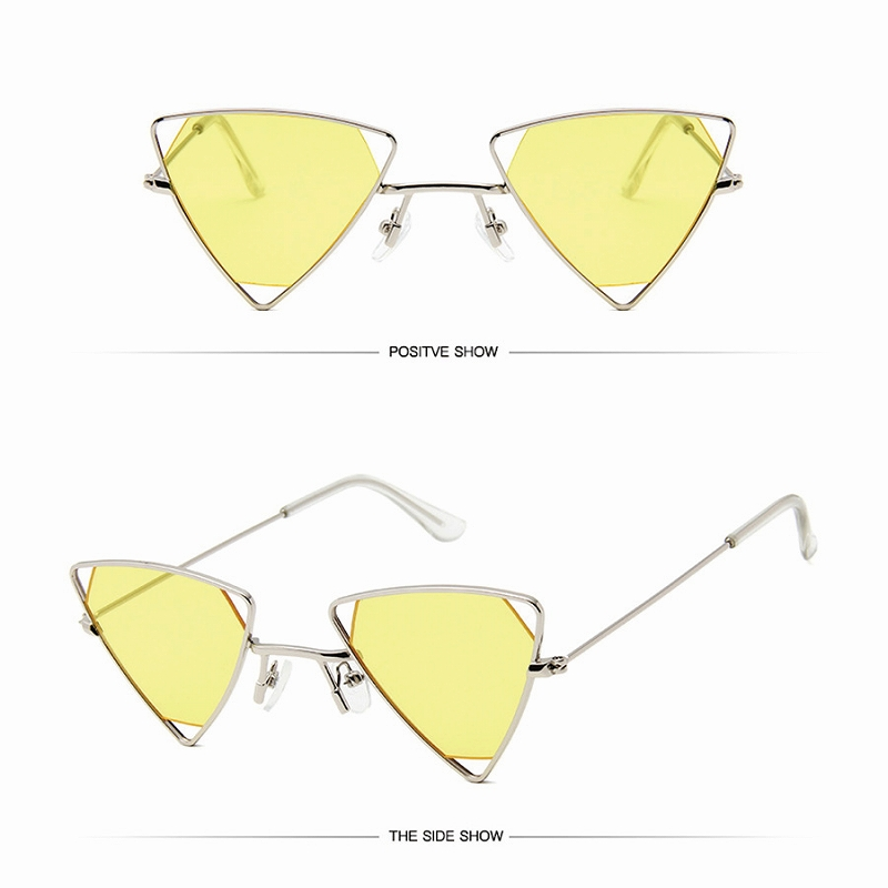 サングラス レディース トライアングル メタルサングラス メガネ 女性 セクシー おしゃれ かわいい かっこいい