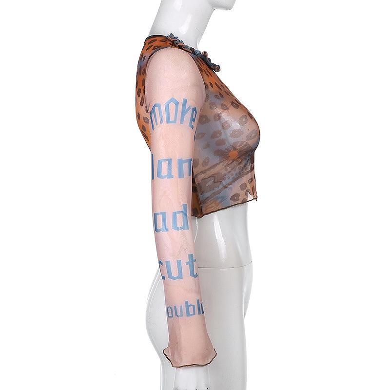 トップス レディース ベルスリーブ メッシュ ダンス 衣装 レース 薄手 カットソー 韓国 ファッション ヒップホップ hiphop スリム シースルー かっこいい おしゃれ かわいい セクシー 女性