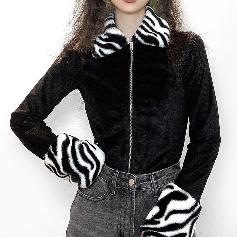 ライトアウター レディース 韓国 ファッション 羽織 袖ファー ダンス 衣装  ヒップホップ hiphop コスプレ かっこいい おしゃれ かわいい セクシー 女性