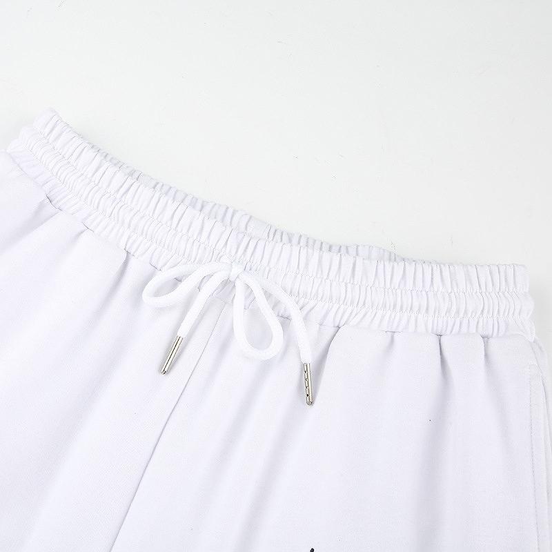 スウェットパンツ レディース ワイドパンツ ダンス 衣装 韓国 ファッション ジム フィットネス セクシー かっこいい おしゃれ ホワイト