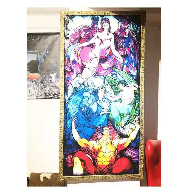 アークエンジェル・ステンドグラス風壁画【現品限り一点もの】