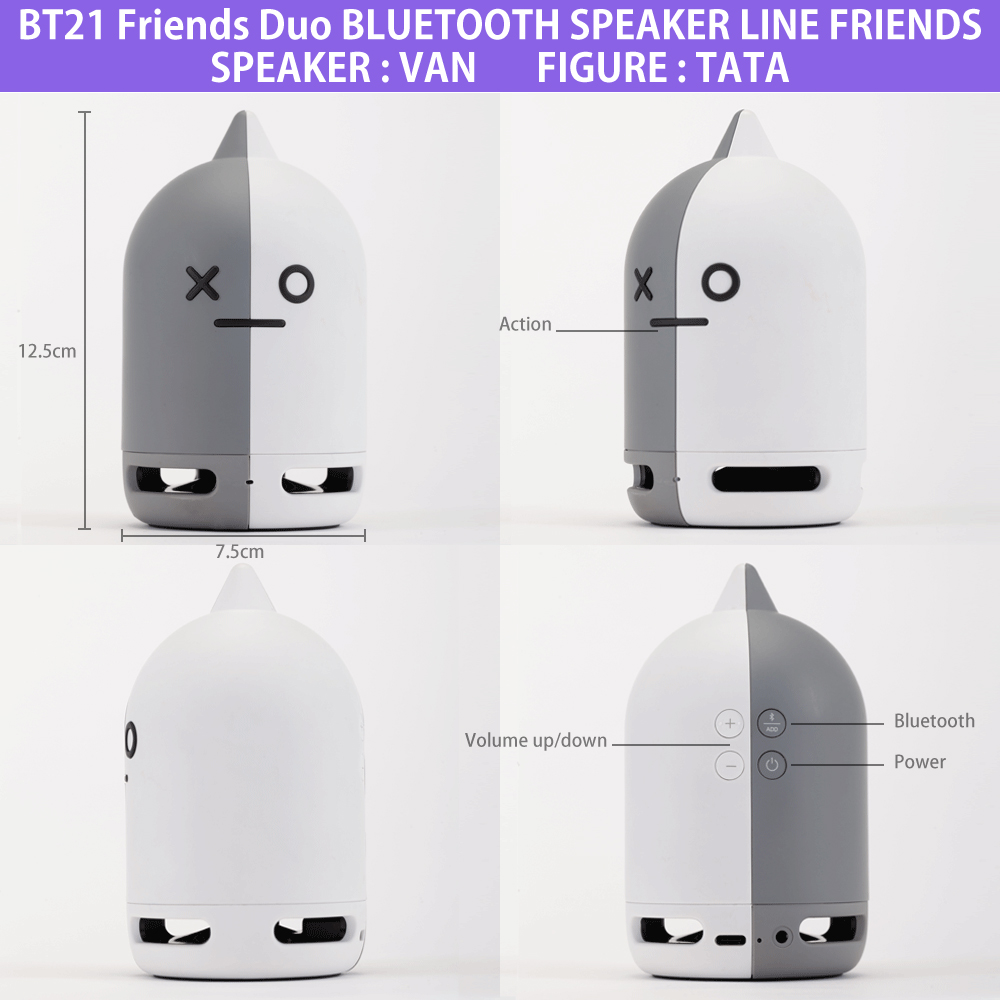 BT21 Friends Duo Bluetooth Speaker LINE FRIENDS VAN + TATA