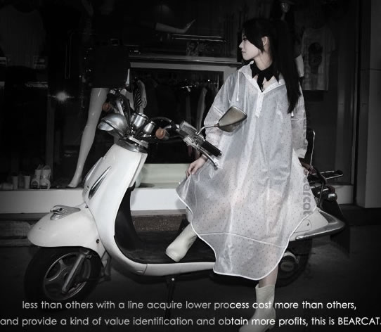 足下までスッポリ♪自転車・原付バイク・スクーターに最適!サイクルレインコート フリーサイズ レディース / バイク 自転車用 レインウェア レインコート ポンチョ カッパ 雨具