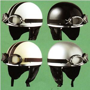 深くかぶれるからキマる!ゴーグル&イヤーカバー付きビンテージハーフヘルメット ☆ SPEED PIT (スピードピット) CL-950 /バイク用ヘルメット